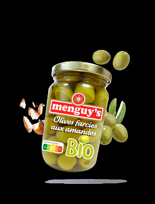 Olives farcies aux amandes Bio Menguy's