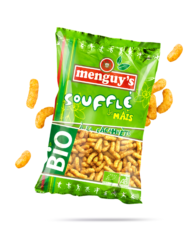 Soufflé de maïs à la cacahuète Menguy's BIO