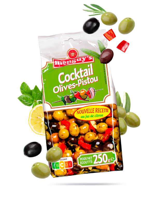 Produit Cocktail Olives-Pistou