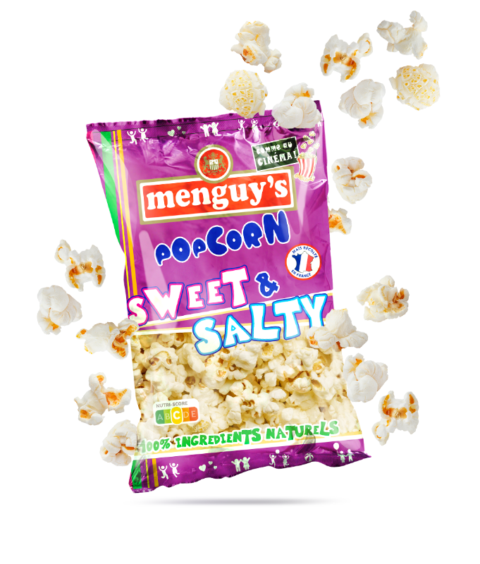 Produit Pop corn sweet & salty sachet