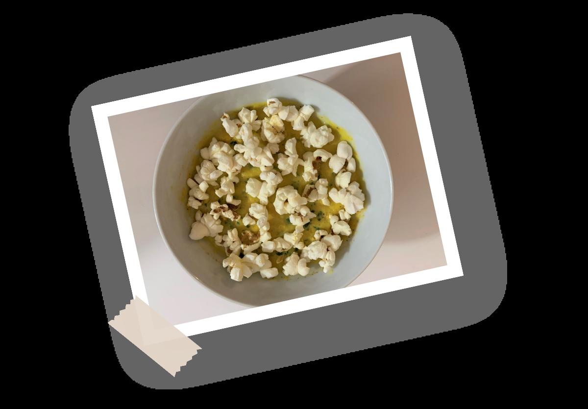 Recette soupe maïs popcorn Menguy's